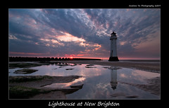 A Lighthouse (awhyu) Tags: new sunset england lighthouse coast brighton