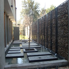 Water Feature by Kingfisher (Badec Bros Deco) Tags: water planters designer landscaping mosaic steel g interior showroom kingfisher features walls custom decor deco bros range gravel designed gabion screed a badec cubedec gabaion