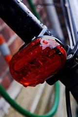 bicycle (robwiddowson) Tags: light urban stilllife orange storm abstract rain bicycle mountainbike led waterdroplets gringo