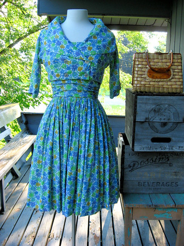1950s floral print Jonathan Logan sundress and jacket
