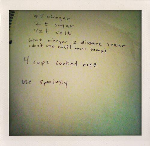 recipe to properly season your sushi rice