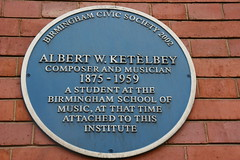 Photo of Albert W. Ketèlbey blue plaque