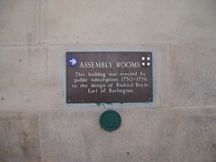 Photo of Richard Boyle and Assembly Rooms, York brass plaque