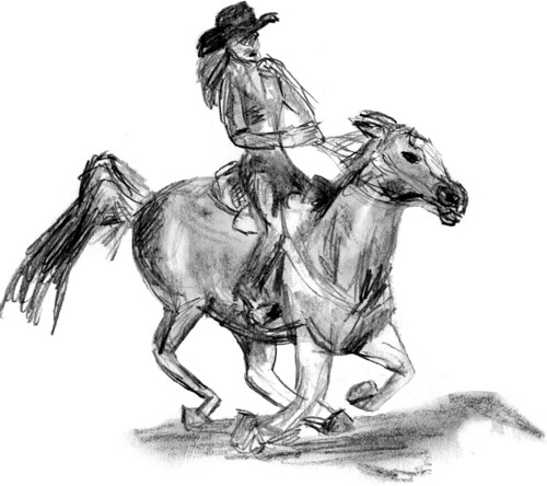 Rodeo horse sketch, part 4