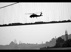 DSC_0654 (Caner Erdoan) Tags: bridge action istanbul mosque helicopter cami bosphorus boazii