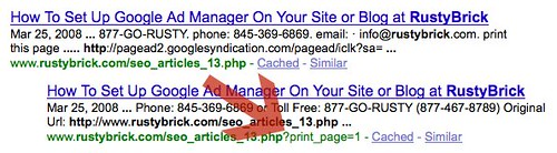 Print URLs and Search Engines