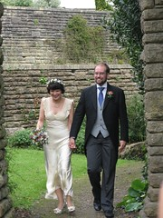Helen and Robin entering the Chaplaincy Garden