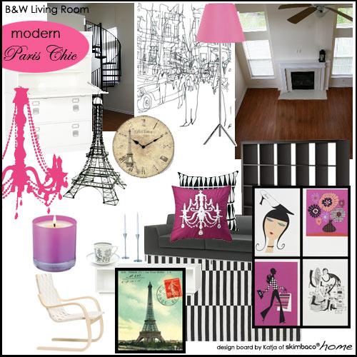 Modern Paris Chic Design Board