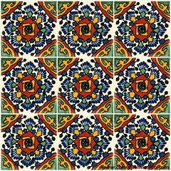 Mexican hand painted tiles (Coloursofmexico) Tags: kitchen ceramic mexico bathroom italian painted mexican spanish tiles handpainted talavera puebla azulejos majolica