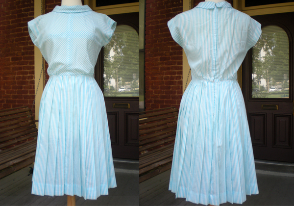 Ebay 60's Cotton Dress w/ Pleated Skirt