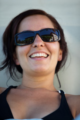 Shiny Girl (Simon's Brain) Tags: portrait cute wet pool girl smile smiling swimming swim cool bokeh suit adobe laughting rigolo rire lightroom laught sympa wwwsimontremblayfr
