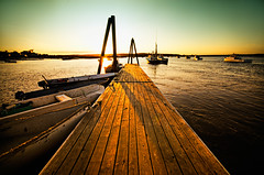 Pine Point Dock (moe chen) Tags: ocean wood pine point pier boat dock maine sigma moe lobster scarborough 1020mm dinghy moe76