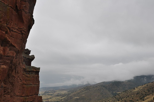 mist over Red Rocks