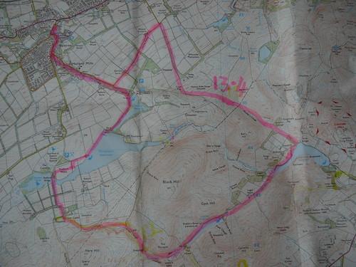 11 Sept 2009 Balerno circular The Pentland Hills map (50)