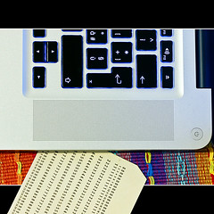card reader (buttha) Tags: apple mac mbp punchcard canonef50mmf18ii macbookpro punchedcard theauthorsplaza schedaperforata