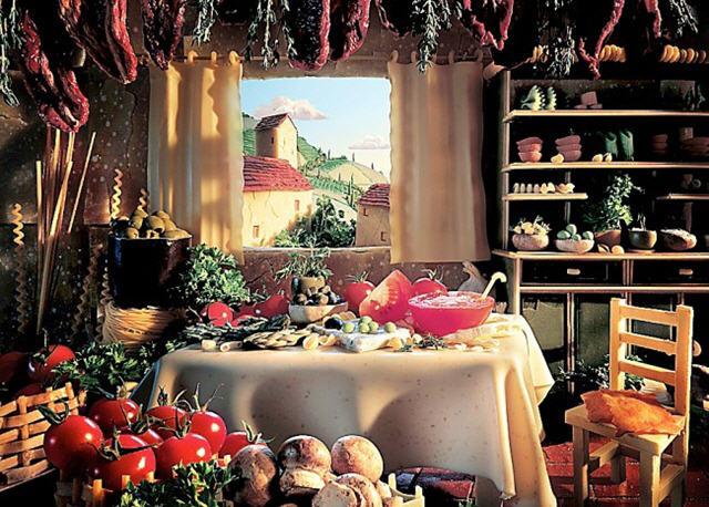 음식 재료로 만든 이미지