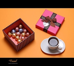 G i f t (Faisal | Photography) Tags: stilllife orange coffee chocolate gift 2009 ef2470mmf28lusm canoneos50d faisal|photography