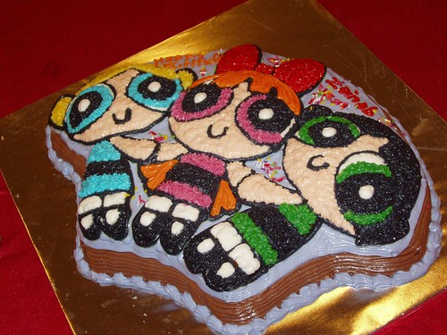 birthday cake @ powerpuff