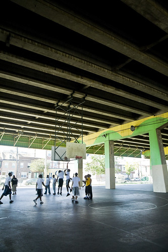 pickup basketball under I-95, 2nd & Washington