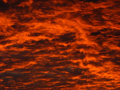 Fiery sky (GustavoG) Tags: sky orange cloud texture clouds fire evening dusk