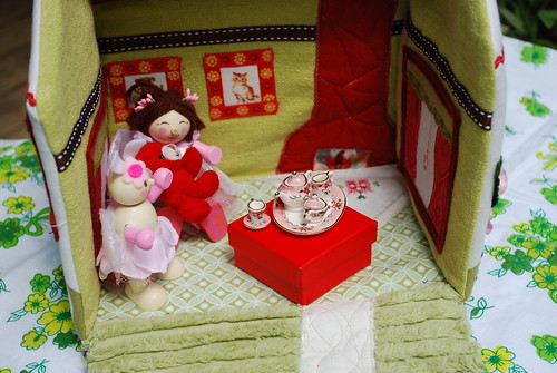 Maeve's fabric dolls house