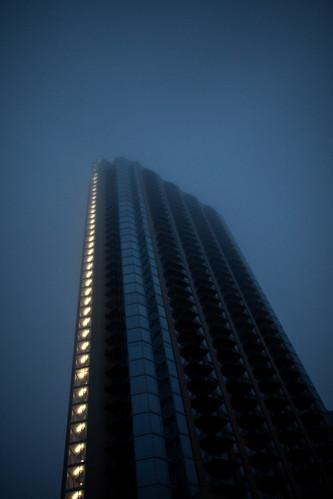 the 360 condo in the fog Austin