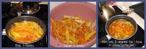 Steps 2 & 3 Candied Citrus Peels