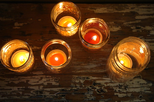 Candles In Jelly Jars