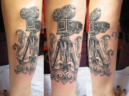 camera tattoo. camera tattoo
