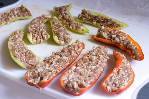 raw stuffed peppers