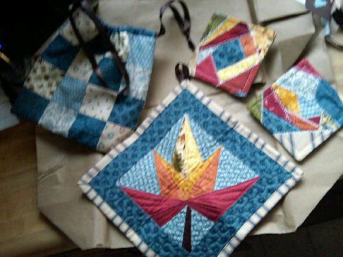 Potholder coaster and bag