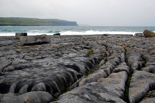 rock and sea, the burren