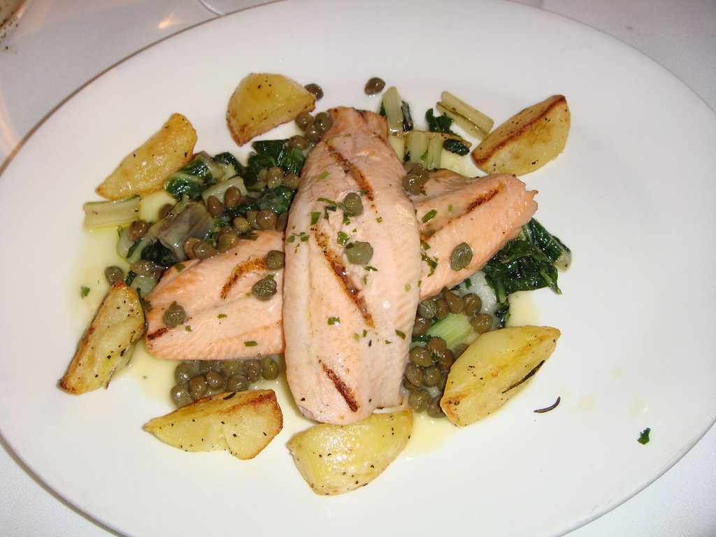 Pan roasted Trout with capers