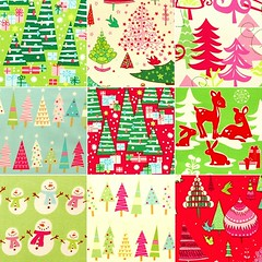 Christmas fabrics collage (Holland Fabric House) Tags: christmas design fabric american michaelmiller alexanderhenry hollandfabrichouse rileyblake