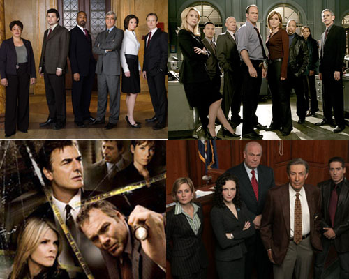 Law and Order, Criminal Intent, SVU e Trial by Jury