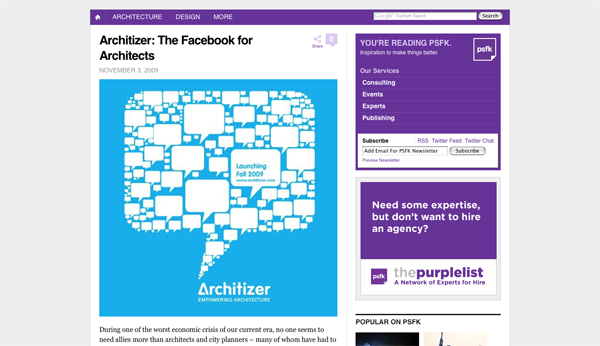 The Facebook for Architects - PSFK_1257453254030