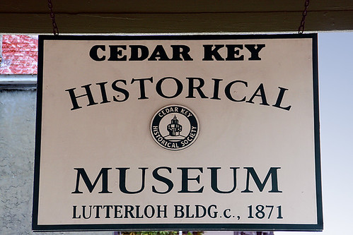 Cedar Key Historical Museum Sign