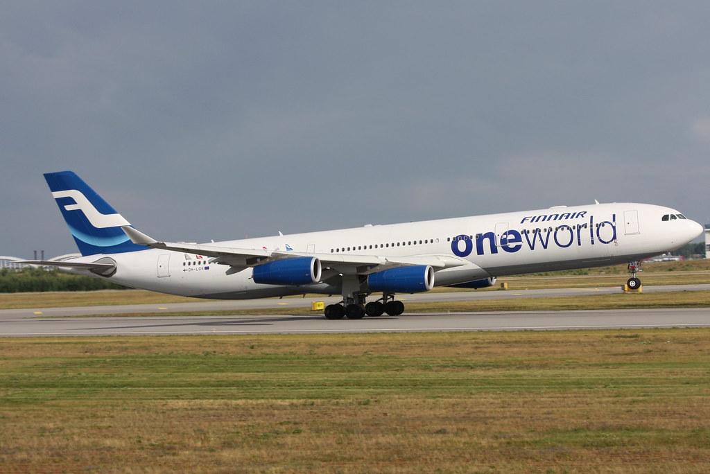 Business Flight Finnair Airbus A340 300 Widebody Airliner