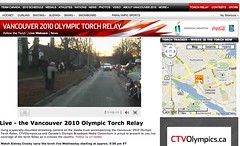Live Webcam @ Vancouver 2010 Olympic Torch Relay - Pix 5 (Sarah Bryson)