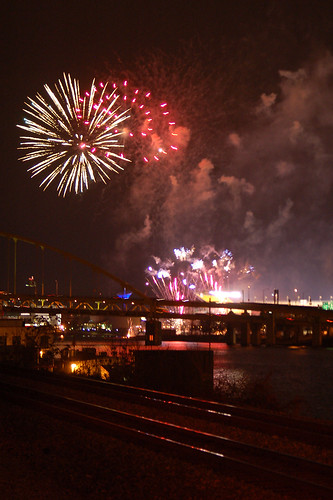 Fireworks over Heinz Field