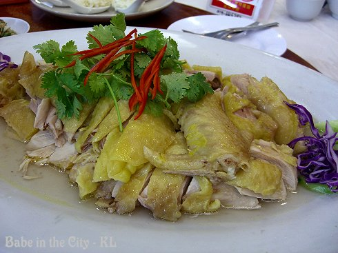 Steamed Yim Kai (Capon or Castrated Chicken)