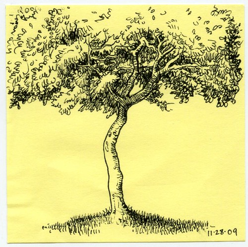 post-it note tree