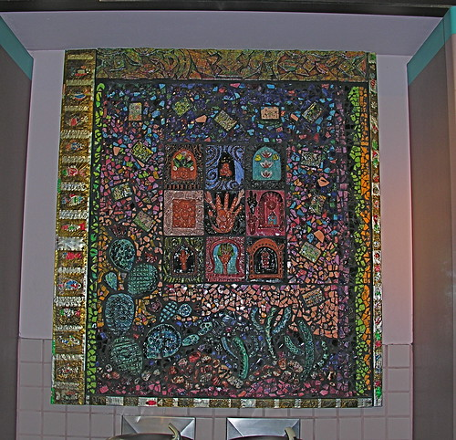 Mosaic from terminal wall - note the cacti