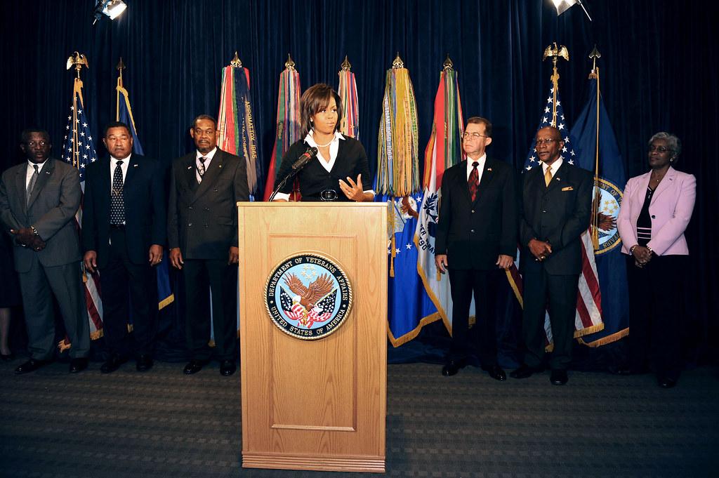 Michelle Obama visits VA Central Office 3997