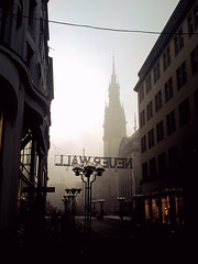 Ghosttown HH (rktic) Tags: autumn winter fog nebel sonyericsson hamburg rathaus thisishamburg c905