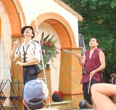 Juggling Knives Behind the Back (IslesPunkFan) Tags: show ny newyork person fair medieval tuxedo faire knives juggling renaissance stunts davidellis sterlingforest dextretripp