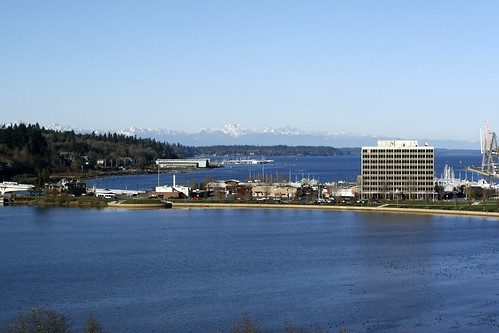 Capitol Lake, Isthmus, Budd Inlet, Olympic Mountains, Puget Sound