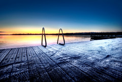 Swim? (Latyrx) Tags: light sunset shadow lake cold ice nature lines swim photoshop suomi finland landscape photography photo nikon long frost view graphic stock perspective sigma diagonal ligth finnish 1020mm sell 2009 hdr mikko resize latyrx d90 photomatix nikond90 mikkolagerstedt