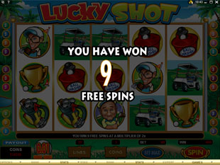 free Lucky Shot gamble bonus game