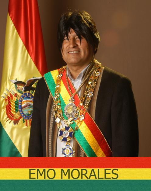Thumb President Emo Morales